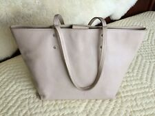 Cole Haan~Tote Bag~Genuine Leather~Blush~Nude~Double Handles~Snap~Inside Pockets