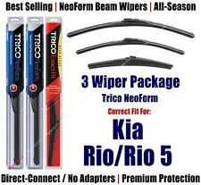 3-Pack Wipers Front & Rear NeoForm - fit 2006-2011 Kia Rio/Rio5 - 16220/160/14A