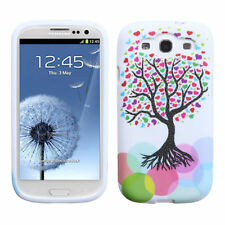 For Samsung Galaxy S III 3 TPU CANDY Flexi Gel Skin Case Phone Cover Love Tree
