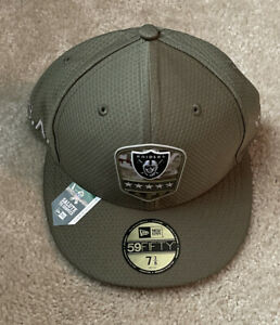 Las Vegas Raiders New Era Salute to Service Sideline 59FIFTY Fitted Hat 7 3/8