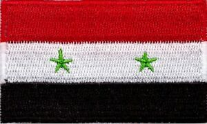 Syria Flag Small Iron On / Sew On Patch Badge 6 x 3.5cm Syrian
