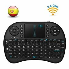 TECLADO INALÁMBRICO SMART TV Español Consola Rii Mini i8 WiFi Touchpad Bluetooth