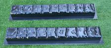 2 PIECES EDGE STONE CONCRETE MOLDS EDGING BORDER MOULD ABS PLASTIC #BR15