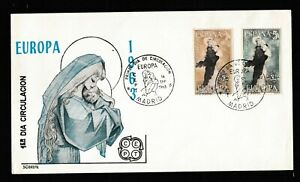 Europa Spain CEPT 1963 FDC First Day Cover Madrid Unaddressed