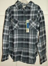 New Boys Medium 8 Gray Plaid Flannel Shirt Long Sleeves Button Up Faded Glory