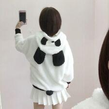 Women Cute Bear Ear Panda Winter Warm Hoodie Coat Hooded Jacket Outerwear Jumper