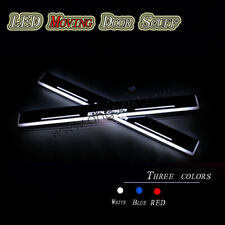 For Ford Explorer 2009-2021 Car LED Front door scuff plates Sill Moving Lights