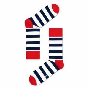 Happy Socks Stripe Socks, Navy/White/Red