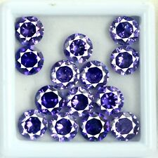 Natural 56 Ct Round Purple Sapphire Loose Gemstone Lot 14 Pcs AGSL Certified