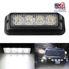 4LED White Car Truck Emergency Beacon Warning Hazard Flash Strobe Lighting Bar