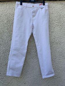 M&S Denim White High Rise Straight Leg Magic Jeans 18 Short BNWT