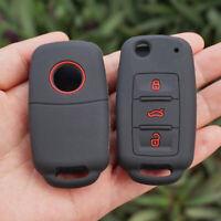 Car Key Case Cover For VW Polo Golf Passat Tiguan Jetta Bora Remote Fob Black