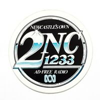 1980s 2NC 1233 Radio Station Sticker VINTAGE Newcastle's Own 2NC Sticker NOS