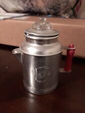 "(G)  Vintage Miniature Coffee Stove Top Percolator Doll 4-1/2"" Salesman Sample"