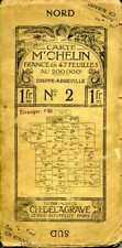 Carte Michelin en 47 feuilles N° 2 Dieppe-Abbeville SUR TOILE