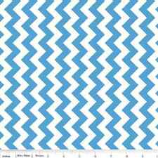 RILEY BLAKE MARITIME MODERN WAVES #C3293 AQUA-COTTON  BY THE YARD