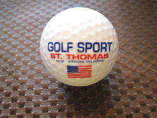 LOGO GOLF BALL-GOLF SPORT-ST. THOMAS U.S VIRGIN ISLANDS.........NEW!!