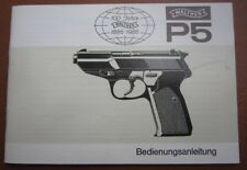 factory made Walther P5 Manual, multi lingual,  original, no copy