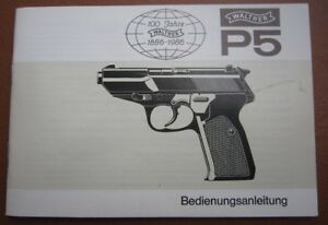 factory made Walther P5 Manual,1985, multi lingual (also english), no copy