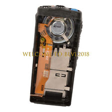 Black Replacement Front Housing Case With New Speaker For Motorola HT750