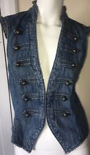 GEORGE SUMMER WAIST COAT IMMACULATE SIZE 10 Denim Blue H52