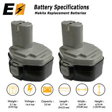 2 Pieces of 14.4V Battery for MAKITA 1433 1434 1435 1435F NI-MH 3.0A