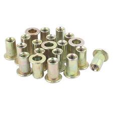 20 pcs plain heads metric steel M3 rivet blind rivet nut insertion thread K6M2