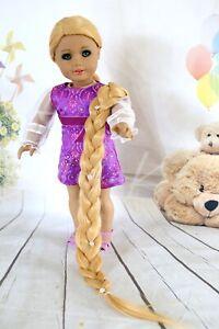 American Girl doll RAPUNZEL LONG Premium wig Fits most 18''dolls Blythe OG