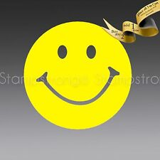 3 INCH SMILEY FACE decal sticker DIE CUT Vinyl love apple ohm peace