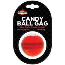 1 Candy Ball Gag Strawberry Hott Products 2.4 oz.