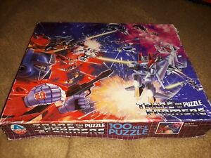 TRANSFORMERS G1 Jigsaw Puzzle 100 PIECES - BOXED - 1984 Complete (1)