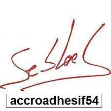 stickers autocollant signature sebastien loeb,10x 6,5cm,saxo,xsara,c3,c4 ds3,4