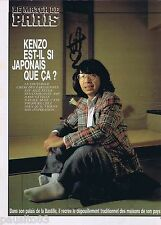 COUPURE DE PRESSE CLIPPING 1989 Kenzo  (2 pages)