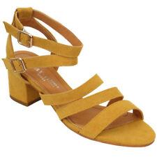 Zapatos de tacón de mujer de color principal amarillo talla 38