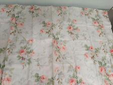 "Ralph Lauren ""Meadow Way"" One New King Pillow Sham-100% Cotton-Pink Roses"