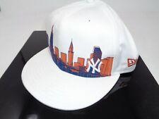 New Era MLB White Skyline New York Yankee 59Fifty Fitted Hat Cap 7 3/8