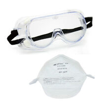 Goggles and mask for chemical and biological experiment lab safety, New