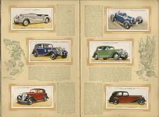 CIGARETTE CARD ALBUM - MOTOR CARS - Cpt. 1936