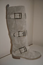NEW! $750+ BURBERRY Belted Flat Suede Desert Beige Boots Shoes Sz 35 / 5 ITALY