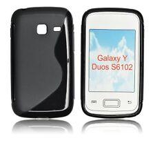 Samsung S6102 Galaxy Y Duos - Housse Etui Silicone S Anti Choc souple - Noir