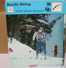 Esquí nórdico 1976 olympicswinter Deportes Tarjeta de Coleccionista
