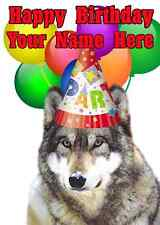 Wolf Party Card code9 Birthday a5 Personalised Greeting card
