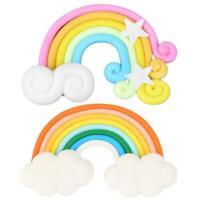 Colorful Rainbow Cloud Cake Topper Birthday Wedding Cupcake Flags Balloon decor