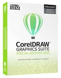 CorelDRAW Graphics Suite - Special Edition 2020 OEM +AfterShot +PhotoMirage #DVD