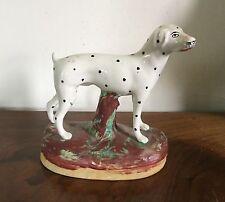 Antique English Staffordshire Dog Figure Dalmatian Hound Figurine 19th century