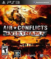 AIR CONFLICTS VIETNAM PS3! WAR, WARFARE, PILOT JETS, HELICOPTERS, COMBAT