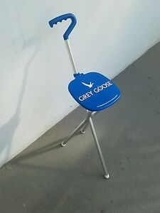 Grey Goose Collection branded Sport Seat walking stick made in USA