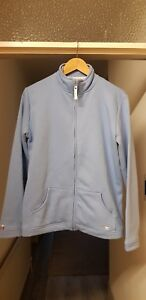 Ladies Country Rose Track Style Jacket. M Light Blue