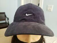 Vintage Nike Pro Classics Fitted Navy Cap Hat Mini White Swoosh 90s