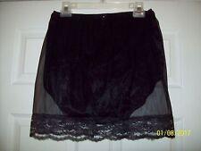 "Black Sheer Nylon SLIP & 3 Layer Panty with EXIT HOLE  30-42"" * 18"" Long"